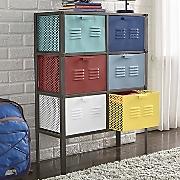 6 drawer colorful metal storage