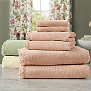 6-Piece Cecile Crochet Trimmed Towel Set