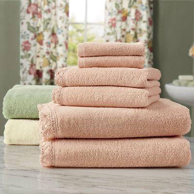 Cecile Crochet Trimmed Towel Set