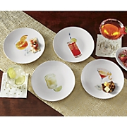 set of 4 cocktail recipe plates by rachael ray