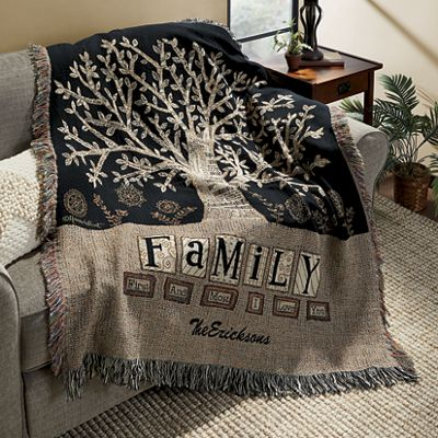 Personalized Family First Throw