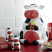 Cow Cookie Jar with Salt & Pepper Shakers