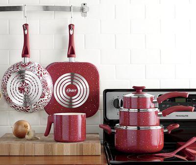 San Jacinto Aluminum Cookware Set by Oster<sup class='mark'>&reg;</sup> by Oster<sup class='mark'>&reg;</sup>