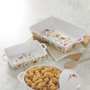 blossom 2 pc  casserole baker set