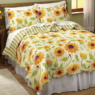 Harvest Sunflower Quilt and Sham