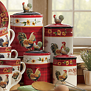4 pc  rooster canister set