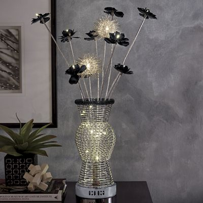 Light-Up Metal Flowers