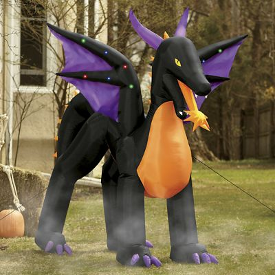 Lighted Mythical Inflatable Dragon