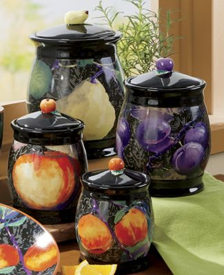 Harvest Fruit Canister Set