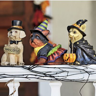 Hand-Painted Halloween Dogs