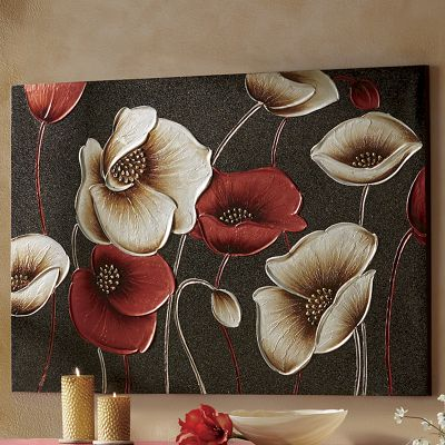 Floral Hand-Painted Canvas Art