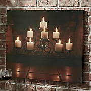 Flickering Candle Wall Art