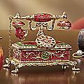 Hand-Painted Telephone Trinket Box