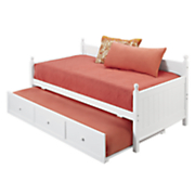 white wooden daybed