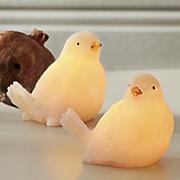 Set of 2 Mini Wax Glitter Doves