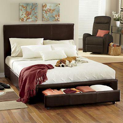 Twin Platform Bed with Drawer Storage