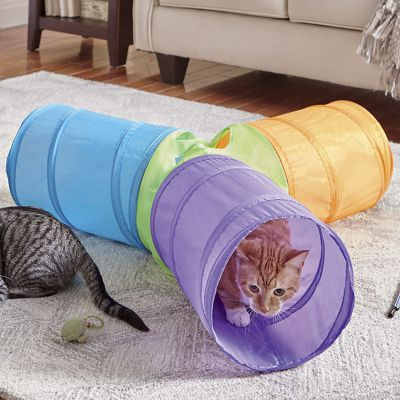 3-Way Pop-Up Cat Play Tunnel