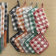 kitchen colors 4 pc  potholder and oven mitt set