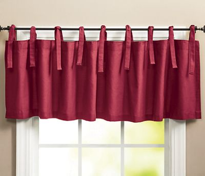 Kitchen Colors Tie-Top Valance