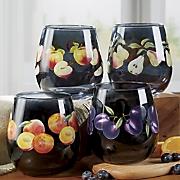 Harvest Fruit Glass Set
