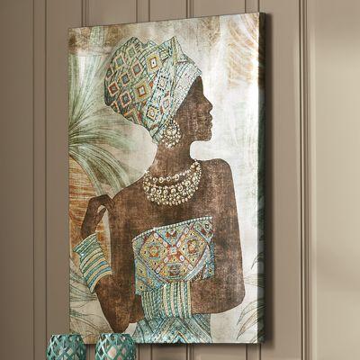 Serita Canvas Print with Diamantés