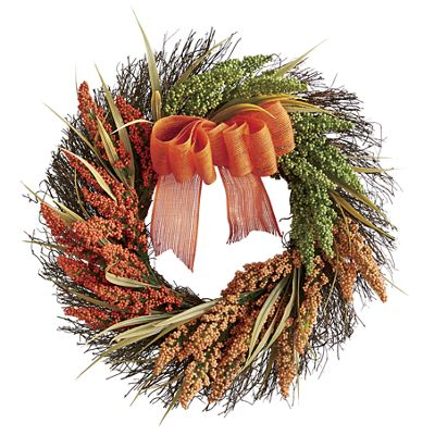 Grass Wreath with Bow