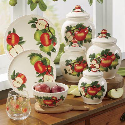 Hand-Painted Apple Dinnerware Set