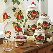12 pc  hand painted apple dinnerware set