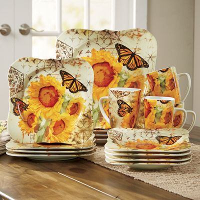 Fall Butterfly Dinnerware Set