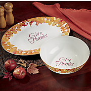 give thanks 2 pc  serving set