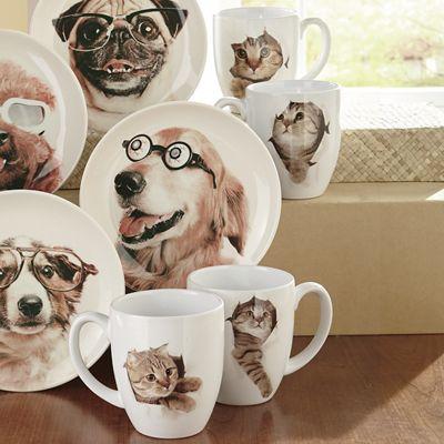 Silly Cat Mug Set