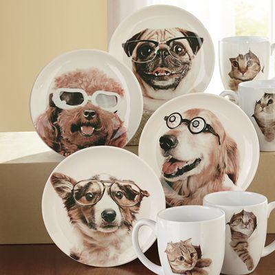 Silly Dog Plate Set