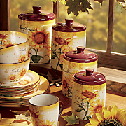 4 pc  sunflower canister set