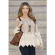 Crochet-Trim Sweater