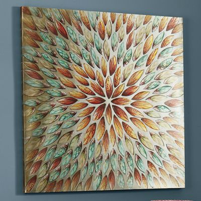 Abstract Leaves Canvas