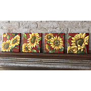 Set of 4 Sunflower Canvas Prints