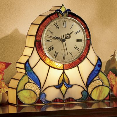 Wicklow Stained Glass Mantel Clock