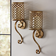 Set of 2 Bronze Wall Sconces