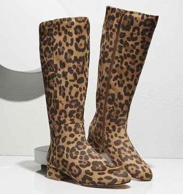 Leopard Tall Boot by Seventh Avenue