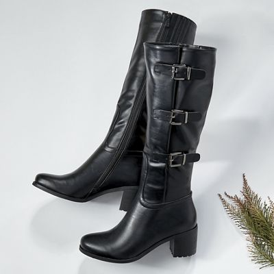Tall Buckle Boot by Seventh Avenue