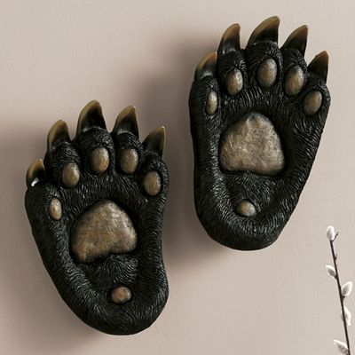 Set of 2 Bear Paw Wall Décor