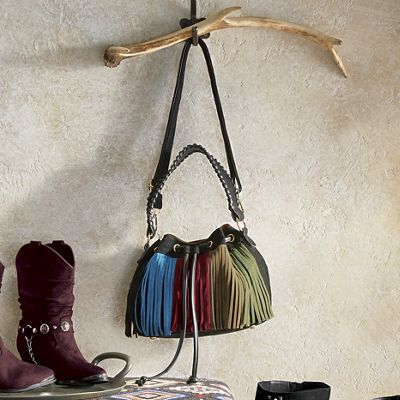 Fringe Mini Bucket Bag