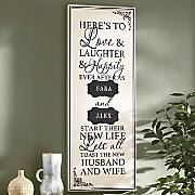Personalized Marriage Love and Laughter Plaque