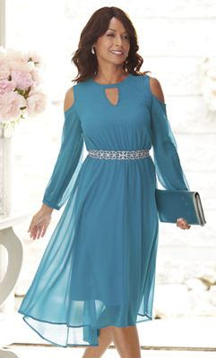 Celene Cold-Shoulder Dress