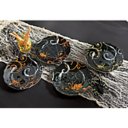 Set of 4 Spook Salad Plates