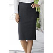 Pinstripe Lightweight Ponte Pull-On Pencil Skirt