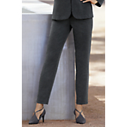 Pinstripe Lightweight Ponte Ankle Pant