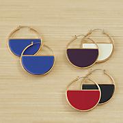 Color/Goldtone Hoops
