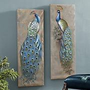 Peacock Canvas Art Set
