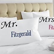 Personalized Mr. & Mrs. Pillowcase Pair